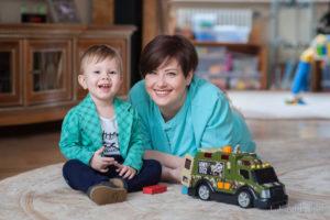 Мама и сын, Семейная фотосессия